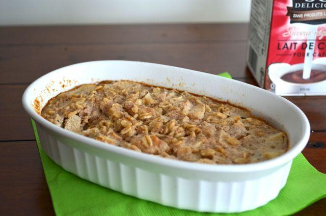 Baked apple pie oatmeal 4
