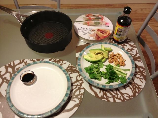 salad roll setup